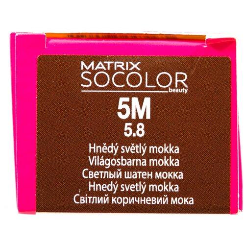 Купить Matrix Socolor Beauty стойкая крем-краска для волос, 5M светлый шатен мокка, 90 мл