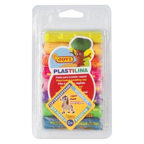 Купить Пластилин на растительной основе JOVI (Испания), 8 цветов, 120 г, неоновый, 28F, 2 шт., Пластилин и масса для лепки