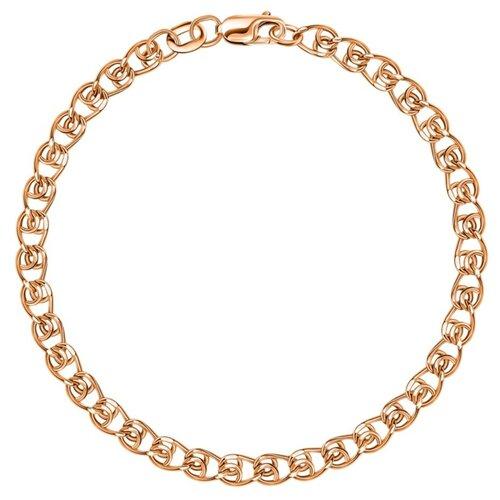 КРАСЦВЕТМЕТ Браслет золотой плетения LOVE НБ12-087ПГ, 18 см, 1.28 г