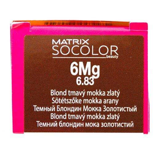Купить Matrix Socolor Beauty стойкая крем-краска для волос, 6Mg темный блондин мокка золотистый, 90 мл