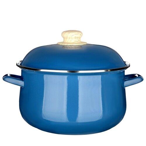Кастрюля Vetta Глянец, 5 л, синий чайник vetta глянец 847069 2 7 л