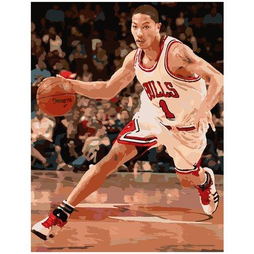 Купить Картина по номерам Баскетболист, 100 х 120 см, Красиво Красим, Картины по номерам и контурам