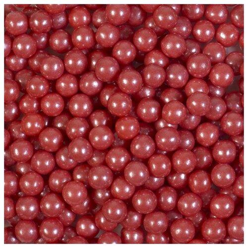 Декор Шарики Красные перламутровые 5 мм. I.D.A.V., 100 гр.