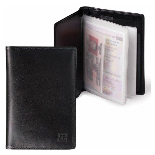 Бумажник водителя SERGIO BELOTTI, натуральная кожа, 6 пластиковых карманов, черный, Италия, 1423, 1 шт.