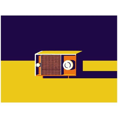 Купить Картина по номерам Минимализм - Радио, 80 х 100 см, Красиво Красим, Картины по номерам и контурам