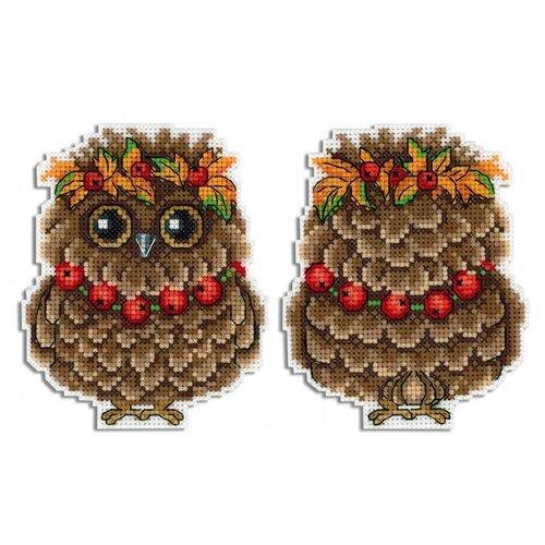 набор для рукоделия совушка цвет белый 12 см Жар-птица Набор для вышивания Осенняя совушка 12 x 9 см (Р-342)