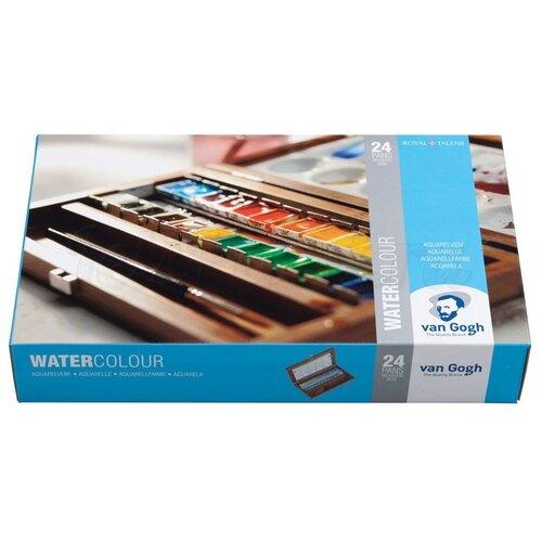 Купить Набор акварельных красок Talens Van Gogh 24 цвета кювета деревянный короб, 20848624 Royal Talens, Краски