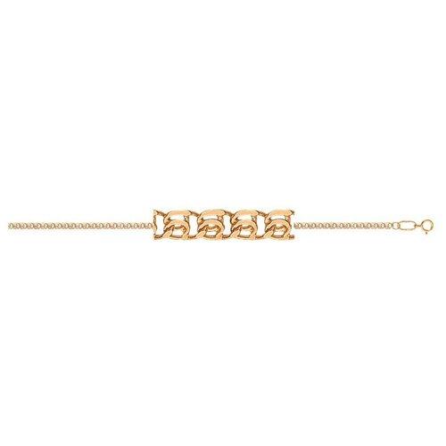 АДАМАС Браслет золотой плетения LOVE БЛ140А2-А51, 18 см, 1.76 г