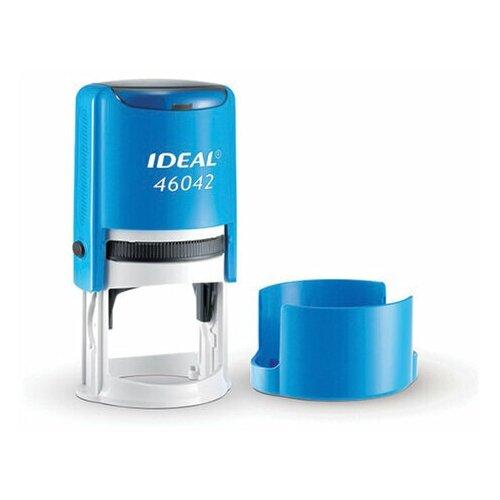 Фото - Оснастка для печати оттиск D= 42мм, синий, TRODAT IDEAL 46042, подушка, корпус синий, ш/к 53109, 125310, 1 шт. штамп получено оттиск 38 14мм синий trodat ideal 4911 db 1 1 ш к 14863 161486 1 шт