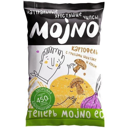 Чипсы MOjNO натуральные Картофель с грибами шиитаке и луком, 75 г крекеры vitalia с чили и луком 75 г