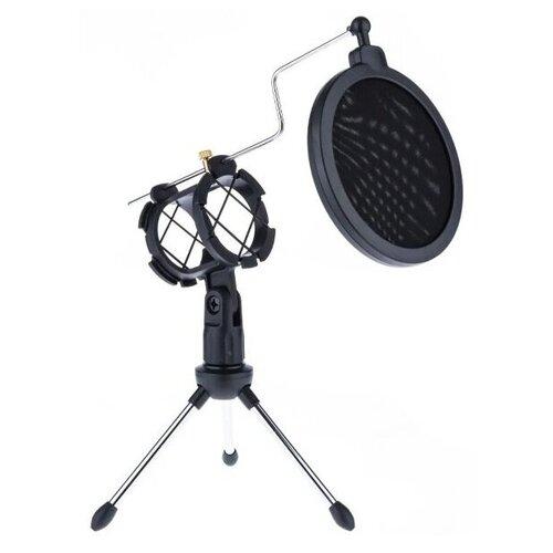 Аксессуар для микрофона Для стриминга, Игровой Настольный держатель для микрофона F-9 с акустическим фильтром