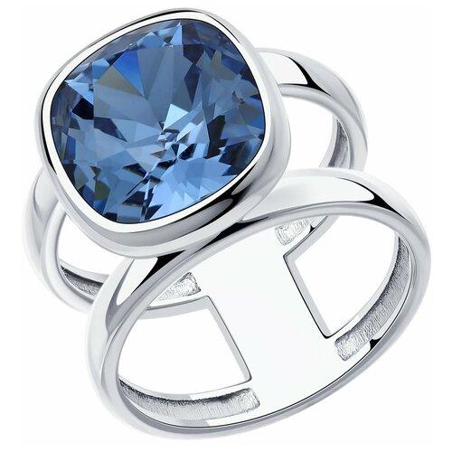 SOKOLOV Кольцо из серебра с кристаллом 94013180, размер 17.5