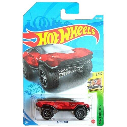 Hot Wheels Базовая машинка Geoterra, красная mattel базовая машинка hot wheels tesla model 3