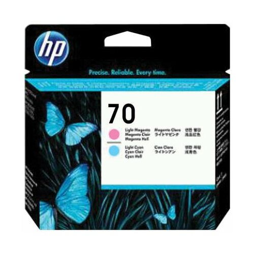 Головка печатающая для плоттера HP (C9405A) DesignJet Z2100/Z3100 №70 светло-пурпурная и светло-голубая оригинальная 1 шт.