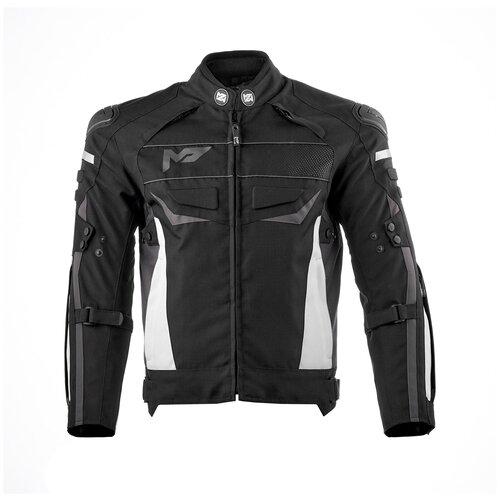 Текстильная куртка Moteq Clyde черный/белый XL (Размер производителя)