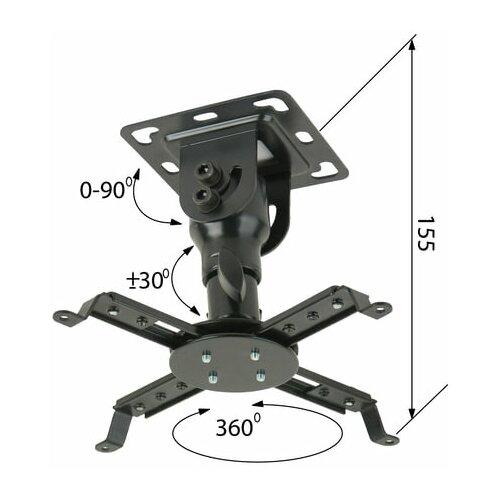 Фото - Кронштейн для проекторов потолочный KROMAX PROJECTOR-10, 3 степени свободы, высота 15,5 см, 20 кг, 20037, 1 шт. кронштейн arm media projector 3 для проекторов настенно потолочный 3 ст свободы max 20 кг 120 650 mm черный