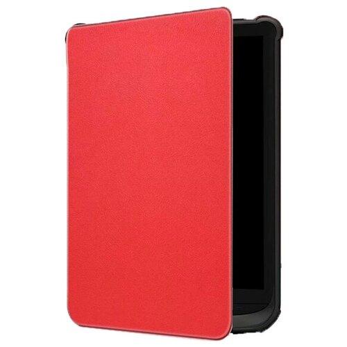 Чехол-обложка MyPads для PocketBook 627 / PocketBook 616 / PocketBook 632 из качественной эко-кожи с функцией включения-выключения и возможностью быстрого снятия красный
