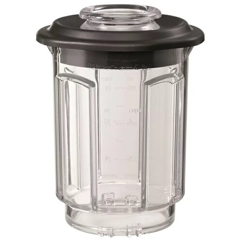 KitchenAid стакан для блендера 5KSBCJ прозрачный/черный стакан для блендера с электромагнитным приводом artisan поликарбонат 1 75 л с крышкой 5ksbspj kitchenaid