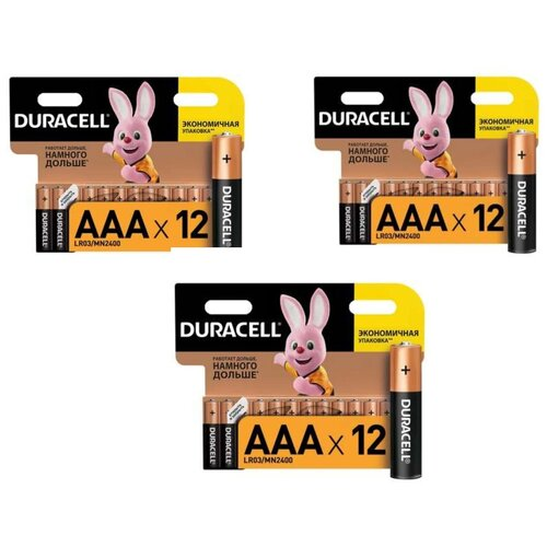 Фото - Батарейки Duracell размера AAA 36 шт батарейки duracell размера aa 60 шт