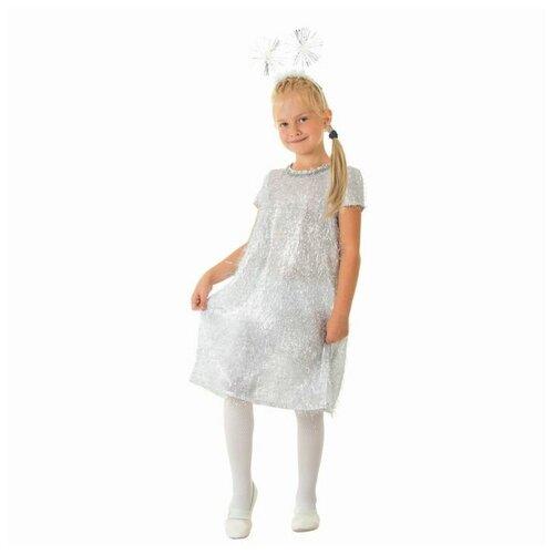 Купить Костюм Снежинка платье, ободок, размер 64 рост 128 1704641, Страна Карнавалия, Карнавальные костюмы