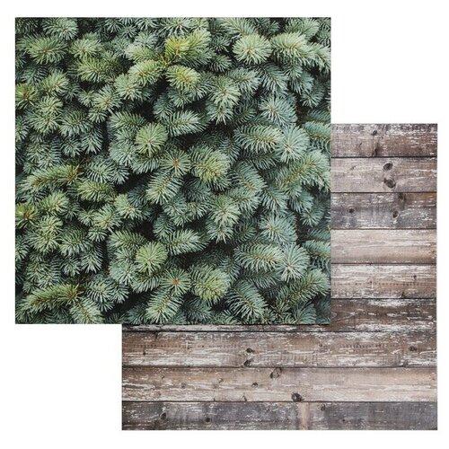 Фотофон Арт Узор Доски-Ёлка зеленый/коричневый