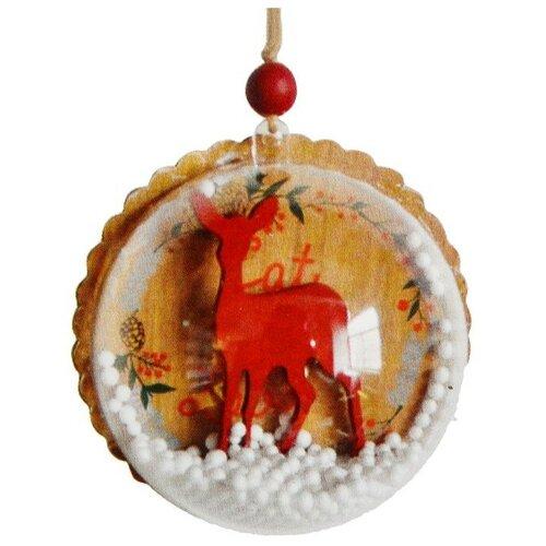 Фото - Набор для творчества - создай елочное украшение Олень со снегом 4304500 набор для творчества опыт n4 шаромагия создай шарики со слизью
