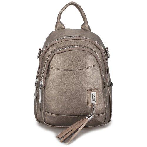 Маленькая женская сумка-рюкзак «Элли Soft» 1256 Bronza