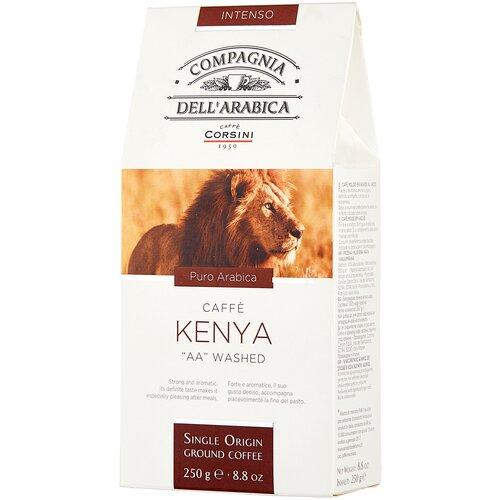 Фото - Кофе молотый Compagnia Dell` Arabica Kenya AA Washed, 250 г кофе молотый compagnia dell arabica brasil santos 125 г