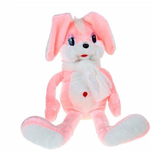 Аймид 302 Заяц в шарфе розовый 90 см