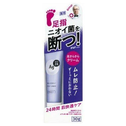 Крем дезодорирующий для ног Shiseido Ag deo 24 30 гр.