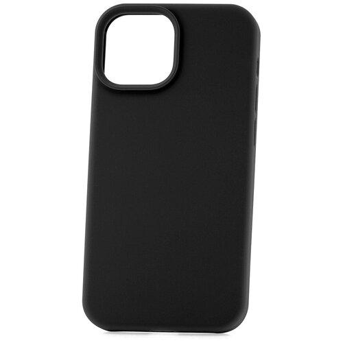 Чехол для Apple iPhone 13 mini Derbi Soft Plastic-3 черный / чехол на айфон / противоударный чехол на айфон / однотонный чехол / чехол с защитой углов / чехол для Эпл Айфон / бампер на айфон / защитный чехол для iPhone / бампер для iPhone / софт тач чехол / бархатный чехол на айфон / чехол с высоким бортиком для iPhone / чехол с защитой камеры на айфон / силиконовый чехол / пластиковый бампер / защита для айфон 13 мини / iphone 13 mini