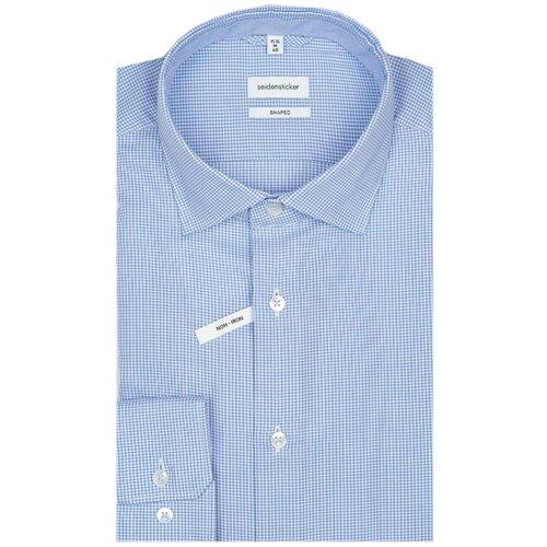 Рубашка Seidensticker размер 42 синий/белый
