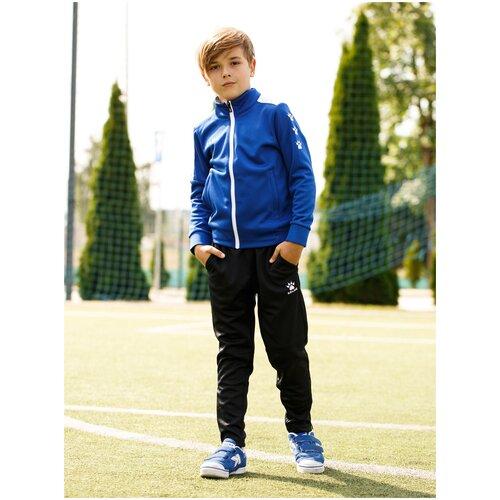 Детский спортивный костюм Kelme Tracksuit, синий / черный, размер 140
