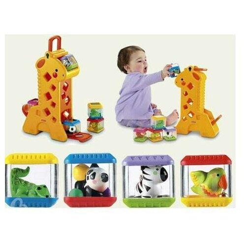 Fisher Price Жираф с кубиками - Развивающая игрушка для малышей Fisher Price от 6 мес