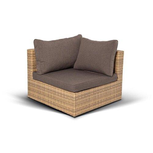 «Сан-Марино» модуль боковой с подушками, соломенный