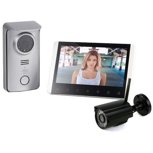 Беспроводной домофон с камерой Skynet R80 с 1 камерой, домофон с камерой, беспроводной домофон, видеодомофон с камерой в подарочной упаковке