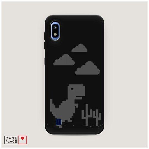 Чехол силиконовый Матовый Samsung Galaxy A10 Динозавр гугл