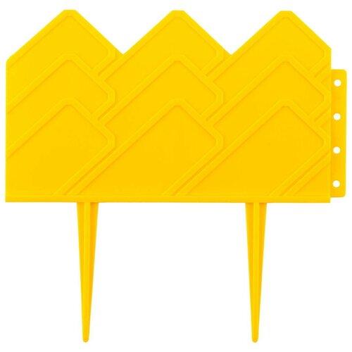 Бордюр декоративный для клумб 14х310 см желтый Grinda 422221-Y