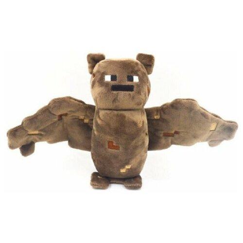 Детская мягкая игрушка ВсеИгрушки / Плюшевая летучая мышь из игры Майнкрафт(Minecraft) для детей, мальчиков и девочек