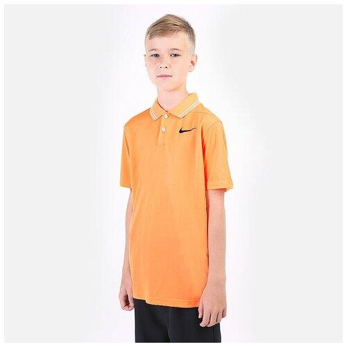 Фото - Поло NIKE размер M(137-147), оранжевый nike толстовка для мальчиков nike sportswear размер 137 147