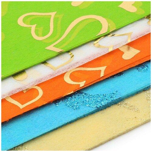 Декоративный нетканный материал для упаковки, рукоделия, флористики (50шт. А4)