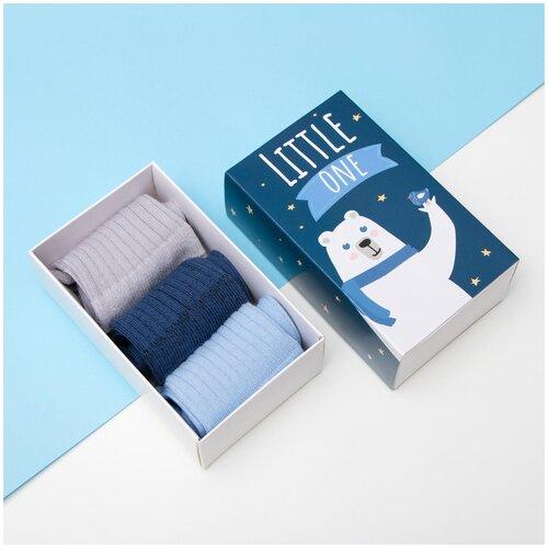 Купить Носки Kaftan комплект 3 пары размер 18-20, серый/голубой/синий
