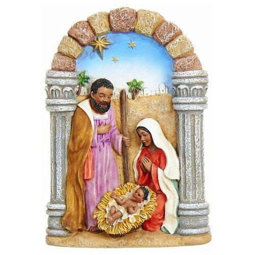 Фото - Ёлочная игрушка святое семейство - рождество, полистоун, 10 см, Kurts Adler ёлочная игрушка кошечка делфтский фарфор 10 см разные модели kurts adler j0936
