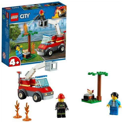 Конструктор LEGO City Fire 60212 Пожар на пикнике конструктор lego city 60214 пожар в бургер кафе