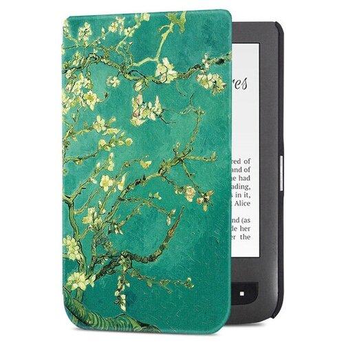Чехол-обложка футляр MyPads для PocketBook 740 тонкий с магнитной застежкой необычный с красивым рисунком тематика Сакура