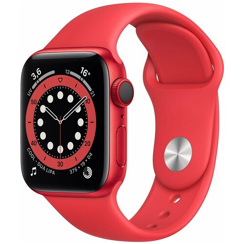 Умные часы Apple Watch Series 6 GPS 40мм Aluminum Case with Sport Band, (PRODUCT)RED умные часы apple watch series 3 38mm aluminum case with sport band серебристый белый