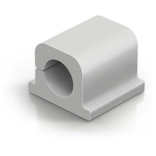 Фото - Фиксатор для кабеля до 8мм DURABLE CAVOLINE® CLIP PRO 1, серый, 6шт./уп. лента на липучке для фиксации кабеля durable cavoline grip 1000х20mm black 503201