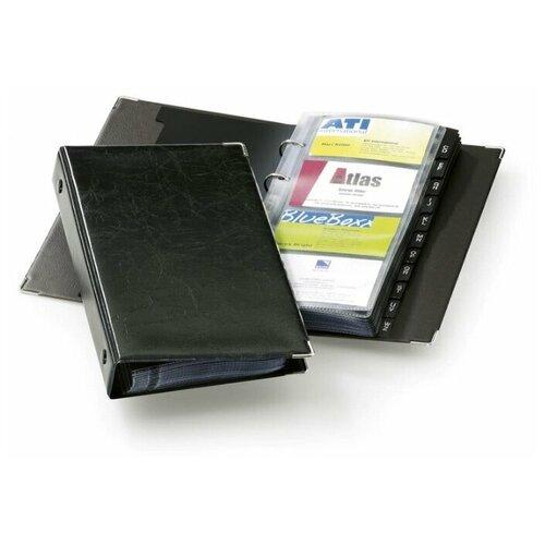 Визитница на кольцах DURABLE VISIFIX® на 200 карточек, черный