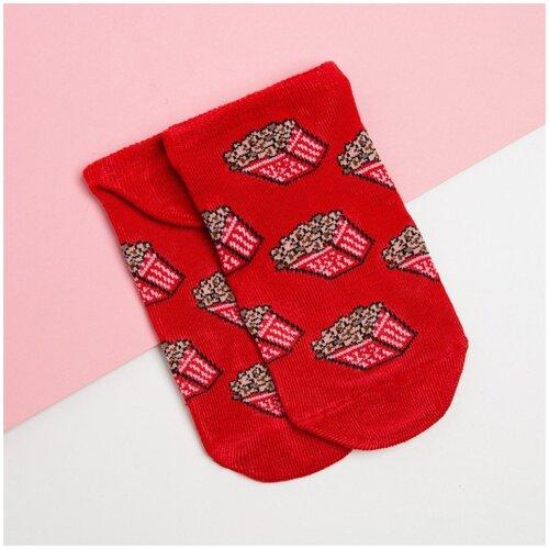 Носки Kaftan Попкорн 6969395, размер 23-25 см (37-39), красный