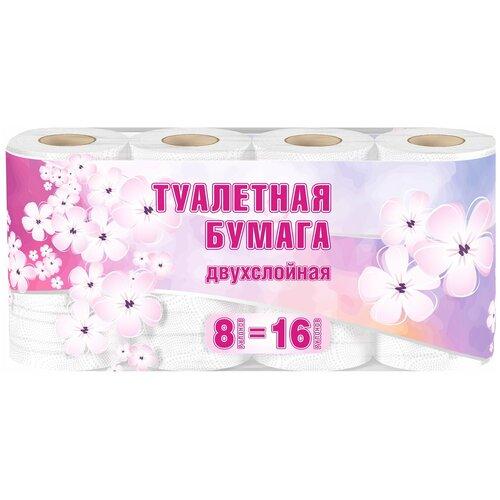 Купить Туалетная бумага Veiro 2 слоя большая намотка 30 метров, 8 рулонов белая